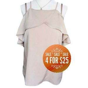 🔥4/$25🔥MONTEAU Los Angeles Ruffle Camisole Top
